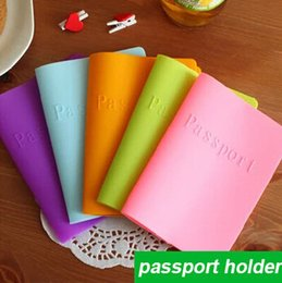 $enCountryForm.capitalKeyWord Australia - Hot Sale Pu&pvc Candy-colored Silicone Cover ,dustproof Waterproof Color Passport Holder For Travel , 6 Style For Choose