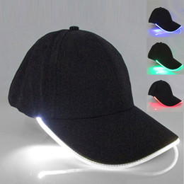 glow dark ball green 2019 - Unisex LED Light Cap Hat Team Baseball Caps Fitted Hats Glow In Dark Party Club Props IK88 cheap glow dark ball green
