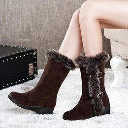 $enCountryForm.capitalKeyWord Australia - Mazefeng Female Winter Shoes Keep Warm Women Casual Boots Women Snow Boot Comfortable Ladies Mid-Calf Boots with Velvet Faux Fur
