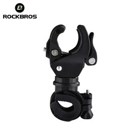 Discount light mounting bracket bike cycle - ROCKBROS Bike Front Handlebar Light Mount Clamp Clip Cycling Bicycle LED Torch Lamp LED Light Bracket Stand Holder
