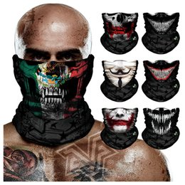 $enCountryForm.capitalKeyWord Australia - 3D Motorcycle Skull Seamless Bandanas Outdoors Cycling Headband Hood Mexico Flag Neck Tube Venom Anonymous Face Shield Balaclava