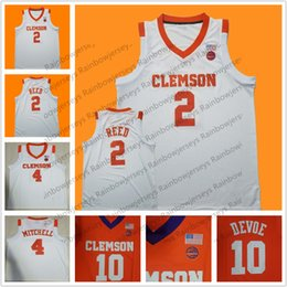 numbered basketball jerseys Australia - Custom Clemson Tigers College Basketball Jersey 14 Elijah Thomas 4 Shelton Mitchell 25 Aamir Simms 15 John Newman III Any Name Number S-4XL