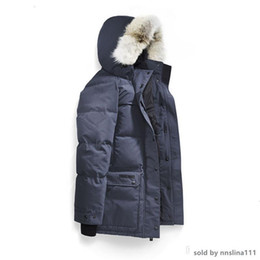 winter parka jackets for men Australia - Fashion Classic Canada Warm Manteau Fur Hooded Thick Winter Men Down Jacket for Canada Male Emory Parka Overcoat Man Outwear Parka