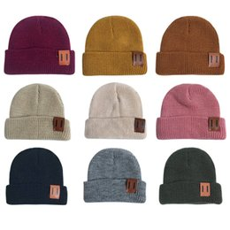 $enCountryForm.capitalKeyWord Australia - Baby Hats Child Boy Girl Knitted Hat Trendy Warm Chunky Soft Stretch Knitted Hats Toddler Winter Hip-hop Outdoor