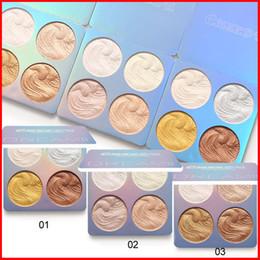 Light eyeshadow paLette online shopping - 3 styles CmaaDu Face Makeup Highlighter Mini Dream High Light Palette Eyeshadow Highlighting Shimmer Glitter Cosmetics color
