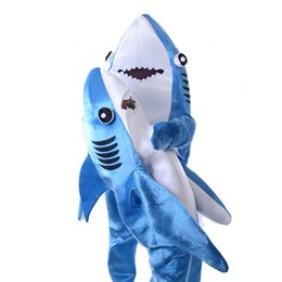 $enCountryForm.capitalKeyWord Australia - 2019 Shark Stage Cosplay Costume Kids Jumpsuit Clothing Fancy Dress Halloween Christmas Props Onesies for Adults Free Shipping SH190908