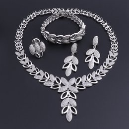 $enCountryForm.capitalKeyWord Australia - OEOEOS Dubai Wedding Jewelry Sets For Brides Vintage African Costume Jewerly Set Silver Plated Nigerian Women Necklace Set