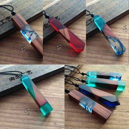 $enCountryForm.capitalKeyWord Australia - New Arrival Handmade Resin Wood Creative Necklaces For Women Men Pendant Long Necklace Sweater Chains Jewelry Accessory 5 Styles M437Y