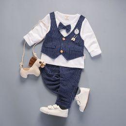 Boys Long Shoes Australia - Spring 2pcs set Boy's Cotton Long Sleeve T-Shirt Casual Pants Little Boys Clothing Set 1-4T Children's Clothing Sets (no shoes)