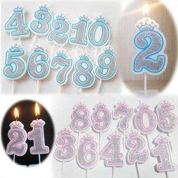 Zahlen 0/1/2/3/4/5/6/7/8/9 Geburtstag Wachskerzen für Party / Jubiläum Cake Topper Dekorationen DIY Geschenk Handwerk bunt im Angebot