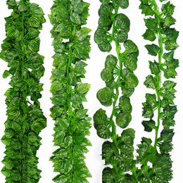 Fake Vine Foliage Australia - 2.1M Artifical Decoration Vine Delicate Artificial Ivy Leaf Garland Plant Vine Fake Foliage Wedding Parties Decor Supplies