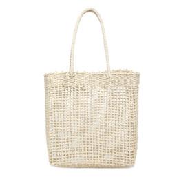 $enCountryForm.capitalKeyWord UK - Women Handbag Hollow Handmade Straw Woven Tote Large Capacity Summer Beach Shoulder Bag Party