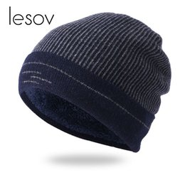 $enCountryForm.capitalKeyWord Australia - Lesov Knitting Wool Winter Hats Men Warm Plush Knitted Beanie Hat Outdoor Sport Snow Ski Caps Slouchy Hip-hop Skull Caps Bonnet