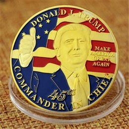 $enCountryForm.capitalKeyWord Australia - Donald Trump Gold Eagle Coin Commemorative Coins 45th President of United States Metal Badge Craft Correction Newest