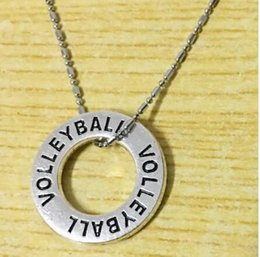 player drop shipping NZ - 10pc lot hot sale Volleyball Necklace Girls Players Teams Party Favor Cheering Graduation Gift Jewelry drop shipping