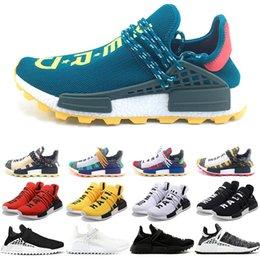 16724ccf7 Hu NMD Human Race Boost Trail Men Women Running Shoes Solar Pack Pharrell  Williams Yellow Black White Top Designer Trainer Sport Sneaker
