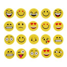 $enCountryForm.capitalKeyWord Australia - 4pcs Emoji Smile Erasers Rubber Eraser Assorted Stationery School Study Gifts