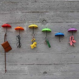 $enCountryForm.capitalKeyWord Australia - Cute Design 3pcs DIY Home Decoration Umbrella Wall Hanging Hook for Children Kids Rooms Sunglasses Bag Organizer Holder Key Hook