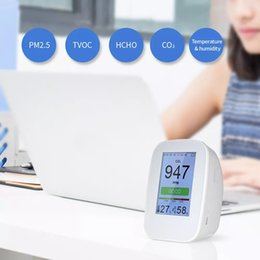 indoor air quality monitor NZ - D9-B D9-H Digital Air Quality Tester Detector Indoor Outdoor HCHO & TVOC Detector CO2 Meter Monitor Tester USB Charging