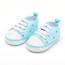 Toddler Girls Canvas Shoes Australia - good quality 2019 Summer Toddler Baby Shoes Newborn Girls Crown Print Solid Cute Soft Sole Casual baby boy shoes Drop Shipping