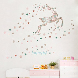 $enCountryForm.capitalKeyWord UK - 20190621 Cartoon Christmas Snowflake Deer Wall Adhesion Children's Room Glass Shop Window Background Decoration Removable Self-adhesive Pape