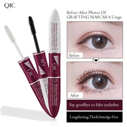 a72f86988f3 QIC Double-ended Stunning Lengthening 4D Mascara Grafting Waterproof  Eyelash Extension Growth Treatments Black Thick Eye Lashes Makeup