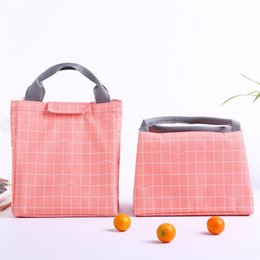 Heated luncH box online shopping - Oxford Flamingo Lunch Box Bag Heat Insulation Collapsible Waterproof Aluminum Foil Wrap Cylinder High Capacity Package Portable New jsb1