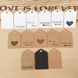 Cupcake Making Australia - 2019 100pcs Kraft paper hand made tag with love for DIY Gift box tag candy cupcake thank you tags handmade favors name brand tag
