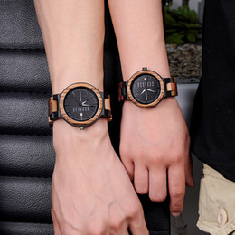 $enCountryForm.capitalKeyWord Australia - Bobo Bird Bamboo Wooden Lover Couple Watches Men Show Date Ladies Wristwatch Women Quartz Male Bayan Kol Saati Gift In Wood Box Y19061905