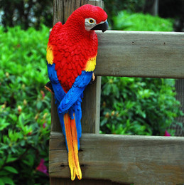 $enCountryForm.capitalKeyWord NZ - hot sale Simulation Parrot Figurine Toy Resin Ornament Half Side Lifelike Sculpture
