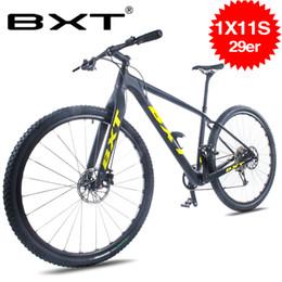 "Speed S Australia - BXT 29inch carbon fiber Mountain bike 1*11 Speed Double Disc Brake 29"" MTB Menbicycle 29er wheel S M L frame complete bike"