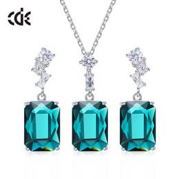 $enCountryForm.capitalKeyWord UK - Wedding Party silver S925 beaded pearl gift woman lady diamond jewelry set for bride acting initiation graduation CDE-830