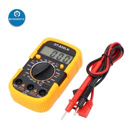 lcd ammeter voltmeter Canada - DT-830LN Mini Digital Multimeter LCD Backlight Display AC DC Current Voltage Meter Tester Voltmeter Ammeter Electronics Tool