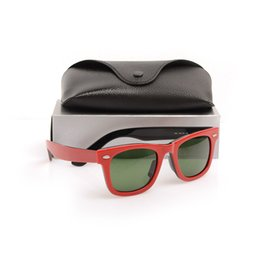 sun glasses black Australia - Super Quality Plank Red and black Sun glasses High Quality glass Lens Green Lens glasses mens glasses womens sunglasses with case and boxs