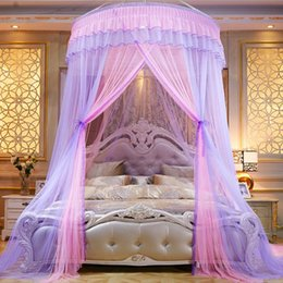 $enCountryForm.capitalKeyWord Australia - Dome Mosquito Net Polyester Fiber Encryption Mesh Bed Net for Single Double Full Twin Queen King Size Bed and Baby Children Kids Girls Bed