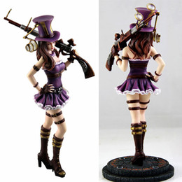 $enCountryForm.capitalKeyWord Australia - PVC Anime Games LOL Caitlyn Action Figure Super Lady Cop Sexy Police Women Doll Model Toy Gift Decorations 27cm