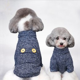 $enCountryForm.capitalKeyWord Australia - Pet Dog Clothes Brand Small Dog Sweaters Winter Puppy Coats Button Dog Clothes Personalized Pet Clothing Supplies LYW1888
