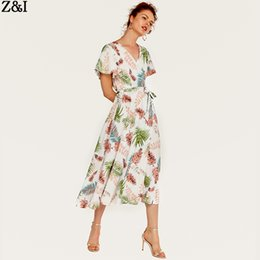 Dress stamps online shopping - Summer New Women s dress Bohemian tourist Holiday skirt Flower Stamp and dress style long dress