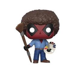 Figures Australia - Deadpool model action figures X-Men Drawing Ver. cartoon dolls painted figure kids gift PVC 10cm