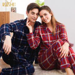 Sexy lingerie man women online shopping - New Couple Pajamas Cotton Lingerie Sleeping Suits Long Sleeve Leisure Home Wear Sleepwear Suit Man and Women Matching Nightwear