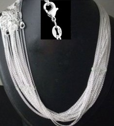 "$enCountryForm.capitalKeyWord Australia - Promotion ,wholesale Price 50pcs lot 925 Stamped Silver Plated 1mm Link Rolo Chains 16"",18"" ,20"",22"",24 Inch Women Jewelry Chain Y19050901"