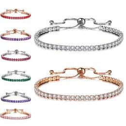 Großhandel Volle Zeile Kristall Zirkonia Armband Silber Gold Pull Einstellbare Armband Manschetten Frauen Modeschmuck Werden und Sandy Drop Ship 320180