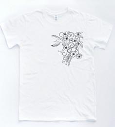 $enCountryForm.capitalKeyWord UK - * Cherry Blossom Badge Chest Print Tee Logo Skater Tattoo Floral T-shirt Top Funny free shipping Unisex Casual Tshirt