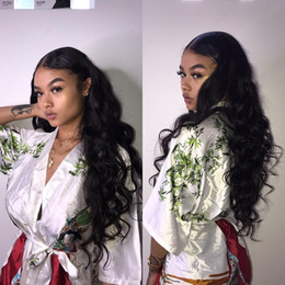 human hair wig loose 2019 - Lace Front Human Hair Wigs Loose Wave 150% Density 13*4 Lace Frontal Wig Pre Plucked With Baby Hair Full Remy Black Hair