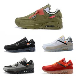 a10cacfb20b4 2019 New OFF 90 Men s Sneakers OFF 90 Men Ash Ice Blue Jogging Shoes Size  40-46