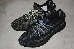 Women Size 12 Rhinestone Shoes Australia - 350 v2 Kanye West Men Women Running Shoes Sply Beluga 2.0 Static Reflective Black designer Sneakers size 5-12
