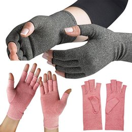 Soft fingerleSS gloveS online shopping - Nursing recovery Dispensing Pressure Gloves Breathable Training Arthritis Care Gloves Knitted Warm Soft unisex Gym Gloves LJJQ118