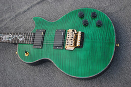 $enCountryForm.capitalKeyWord Australia - Manufacturers custom-made new high-end Chinese 6-string electric guitar, green front and back blue tiger body pattern, double gold mixing ac