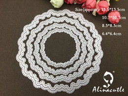 $enCountryForm.capitalKeyWord NZ - wholesale METAL CUTTING DIES cut 4pc circle round wave shape frame Scrapbooking paper craft card album punch stencil art cutter