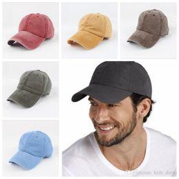 Vintage baseball hats free online shopping - Women Snapback Caps Men Baseball Cap Hats For Men Casquette Plain Bone Gorras Cotton Washed Blank Vintage Baseball Caps Sun Hat GGA462